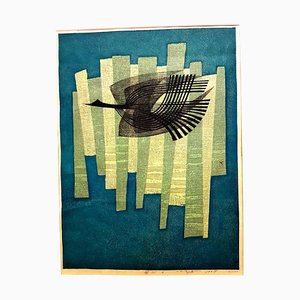Fumio Fujita - Free Bird - Gravure Originale Signée 1964