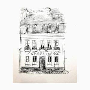 Gravure originale de Raoul Dufy - A L'Ecu de France