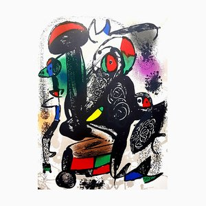 Joan Miro - Original Abstract Lithograph 1981