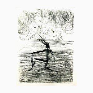 Salvador Dali - Kneeling Knight - Original Radierung 1969
