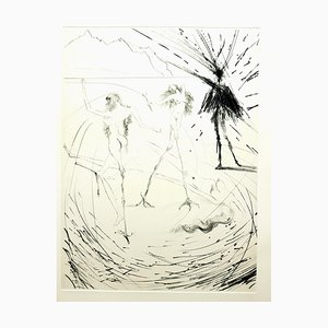 Eau-Forte Salvador Dali - Femme - 1969