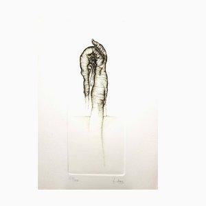 Fred Deux Surrealismus V - Signierte Original Radierung