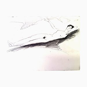 Jean Gabriel Domergue - Lying Naked - Original Etching 1924