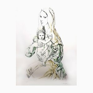 Leonard Foujita - Madonna with Child - Original Signed Lithograph