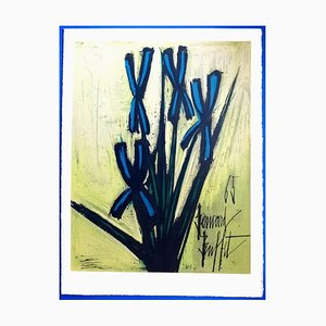 Bernard Buffet - Flowers - Lithograph 1965