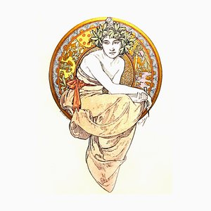 Lithographies 1900 Alfons Mucha - Anatole France - Clio - 13