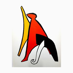 Alexander Calder - Original Lithograph - Behind the Mirror 1976