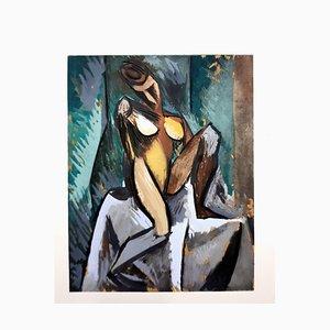 Après Pablo Picasso - Nature Morte à la Pipe - Pochoir 1962