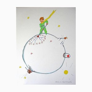 Little Prince - Volcano's Sweep - Lithograph