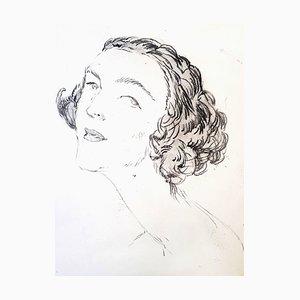 Jean Gabriel Domergue - Portrait - Original Etching 1924