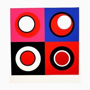 Litografia Geneviève Claisse - Kinetic Composition II 2014