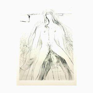 Salvador Dali - Venus in Furs - Sello original firmado 1968