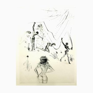 Salvador Dali - Venus in Furs - Original Stamp-Signed Etching 1968