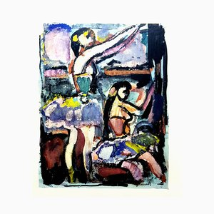 Dancing Women - Lithograph 1943