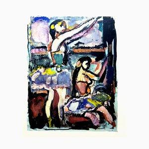 Tanzende Frauen - Lithografie 1943