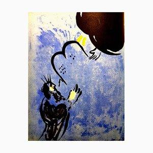 Lithographie Marc Chagall - Moses - Original 1956