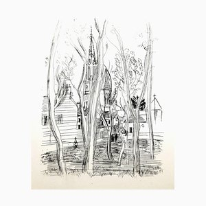 Eau-Forte Raoul Dufy - Village - Original 1940