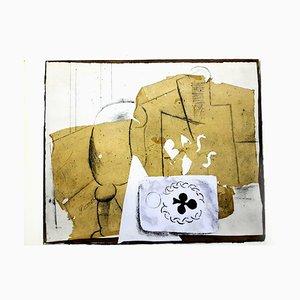 Nach Pablo Picasso - Cubist Still Life - Pochoir 1962