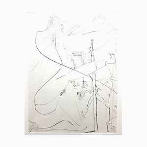 Salvador Dali - Venus in Furs - Sérigraphie originale de 1968