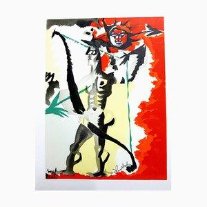Jean Lurçat (après) - Hommage à Dufy - Lithographie 1965
