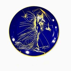 Vénus - Bleu Porcelaine de Limoges et Or 1967