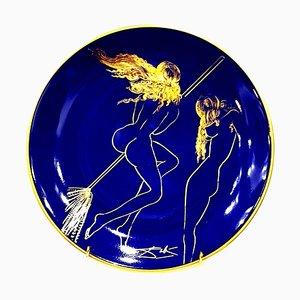 Sabat - Porcelaine de Limoges Bleu et Or 1968