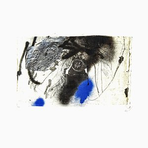 Antoni Clavé - Signed Original Lithograph - Blue Abstract Composition c.1946