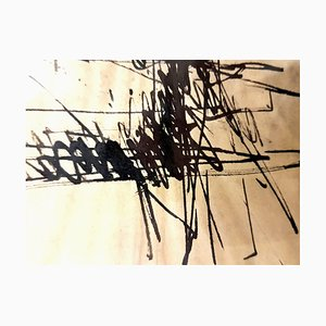 Jacques Germain-Ohne Titel - Signierte originale Tinte C.1970