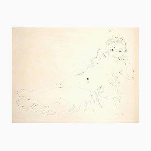 Raoul Dufy - Relaxation - Dessin à l'Encre Signé Original Circa 1920