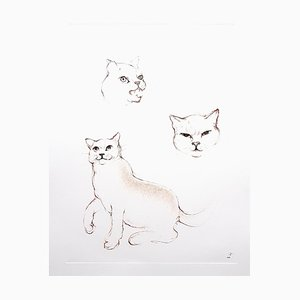 Leonor Fini - Cats - Original Etching 1985
