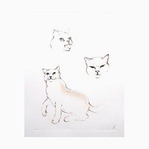 Leonor Fini - Cats - Original Radierung 1985