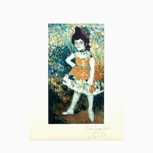 Après Pablo Picasso - The Dwarf Dancer - Handsigned and Dedicated Lithograph 1966