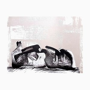 Lithographie Henry Moore 1977