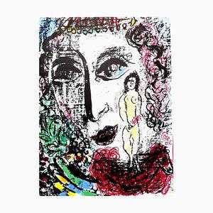 Lithographie Originale de Marc Chagall 1963