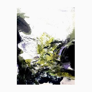 Lithographie Originale Zao Wou-ki - Abstract Composition 1971