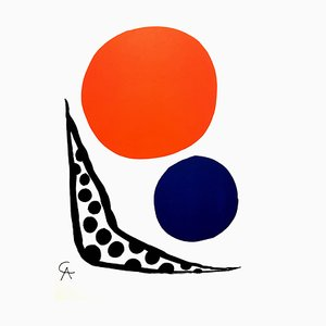 Alexander Calder - Composition - Original Lithograph from ''L'Atelier Mourlot'' 1964