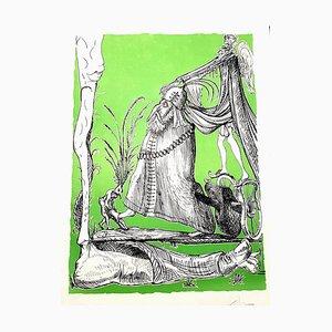 Salvador Dali - Les Songes Drolatiques - Handsignierte Lithographie 1973