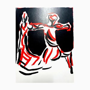 Lithographie Marino Marini - Knight - Lithograph Original 1968