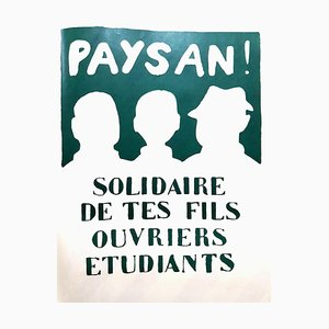 Mai 68 Original French Poster - Solidarity - Mai 68