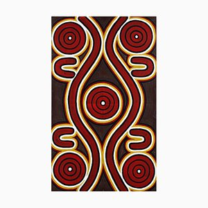 Peinture Sandy Hunter Petyarre, '' Men's Dreaming '' Aboriginal Art Painting 1996