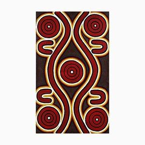 Sandy Hunter Petyarre, '' Men's Dreaming '' Aboriginal Art Painting 1996