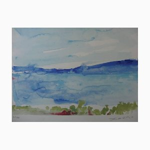 Zao Wou-Ki - Ibiza - The Sea - Signed Litograph