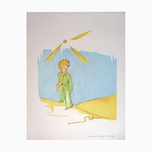 Antoine de saint Exupery - The Little Prince Meeting the Snake- Original Litogra