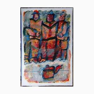 Théo Tobiasse - Circo 'People - Litografia originale