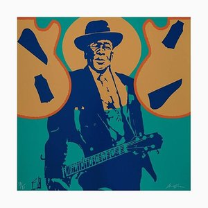 Jarrón Ivan Messac - John Lee Hooker - Litografía original 2012