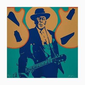 Litografia originale Ivan Messac - John Lee Hooker - Original Lithography