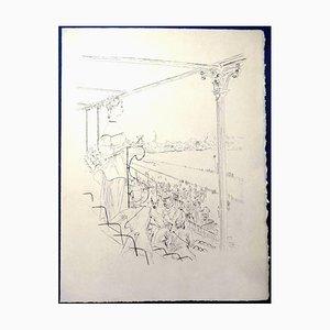 Leonard Foujita - Elégante - Gravure Originale