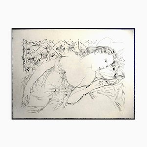 Leonard Foujita - Le Reve - The Dream - Original Engraving