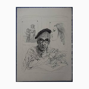 Leonard Foujita - Autoportrait With Kimiyo- Original Engraving
