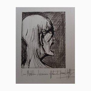Bernard Buffet - L'Enfer - Damné ricanant - Signierte originale Lithographie 1976